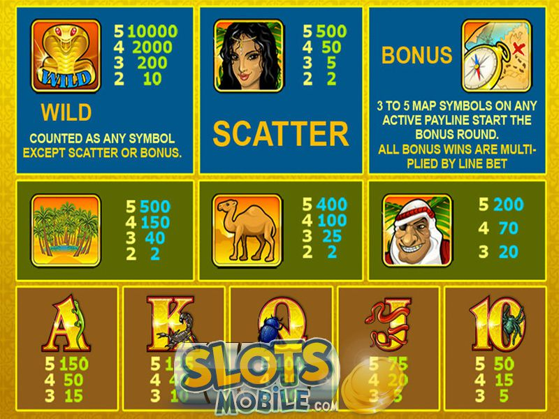 Play Desert Treasure Slots at Casino.com UK