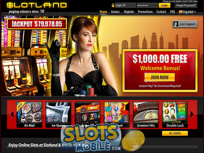 100% Match Bonus at Slotland Casino