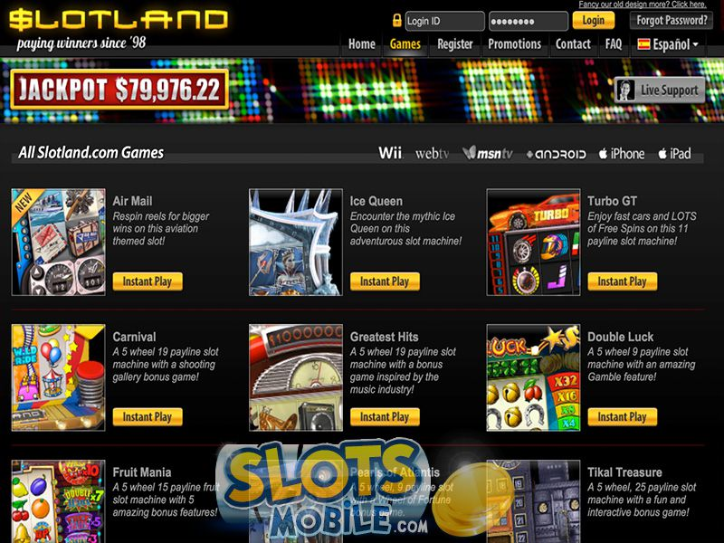 Slotland mobile casino login